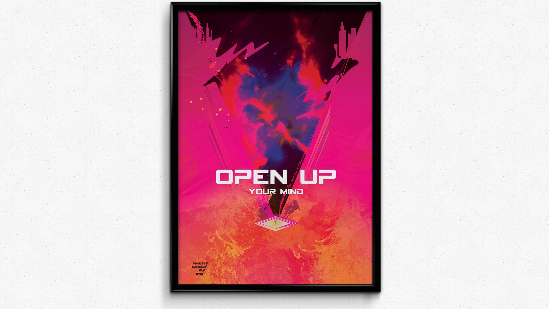 openyourmind poster mockup